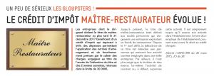 Read more about the article Le crédit d'impôt Maître-Restaurateur évolue