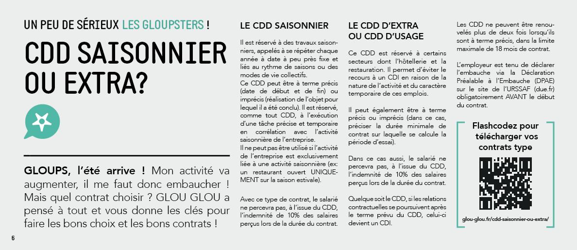 CDD Saisonnier ou extra ?