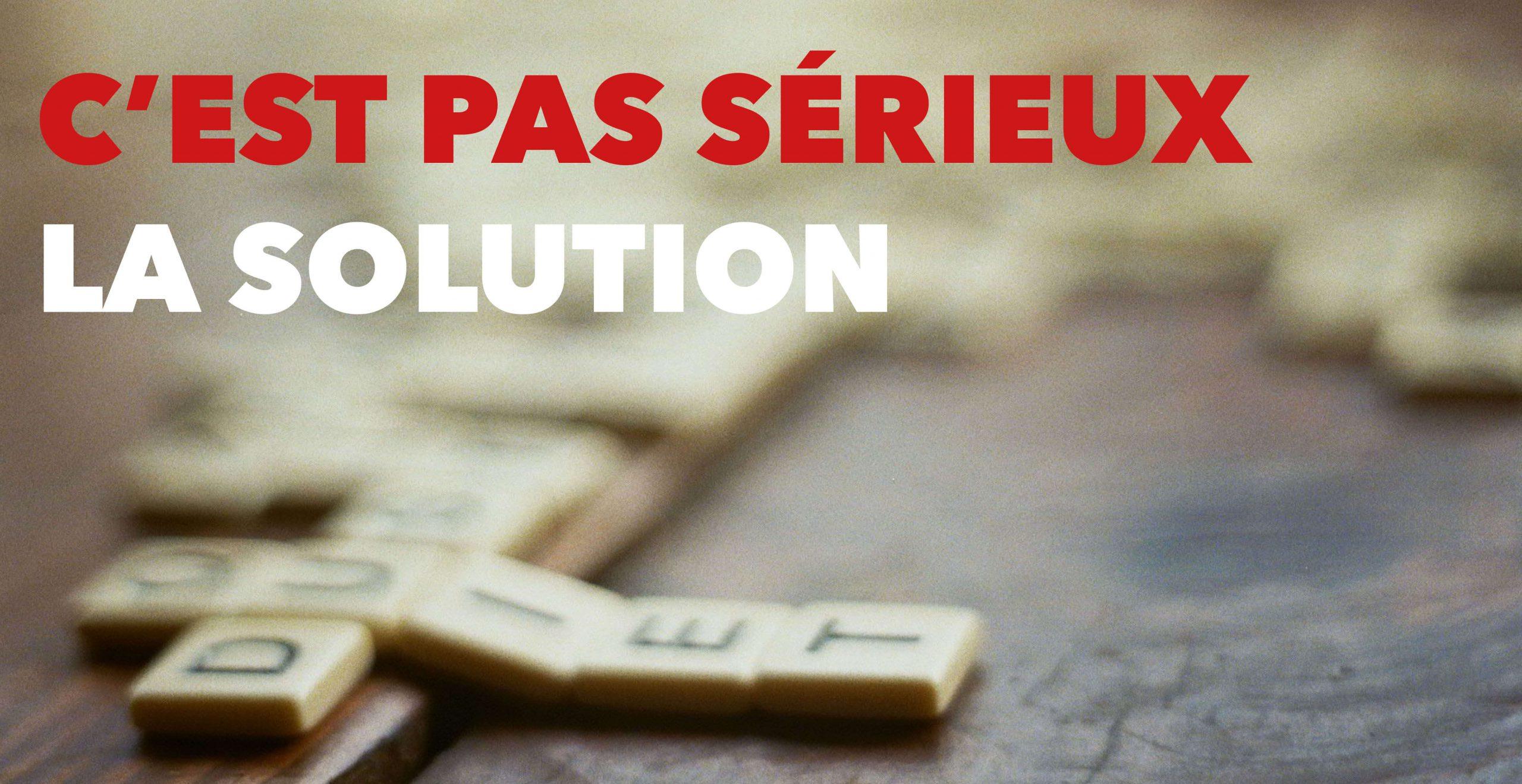 Read more about the article La solution des mots croisés