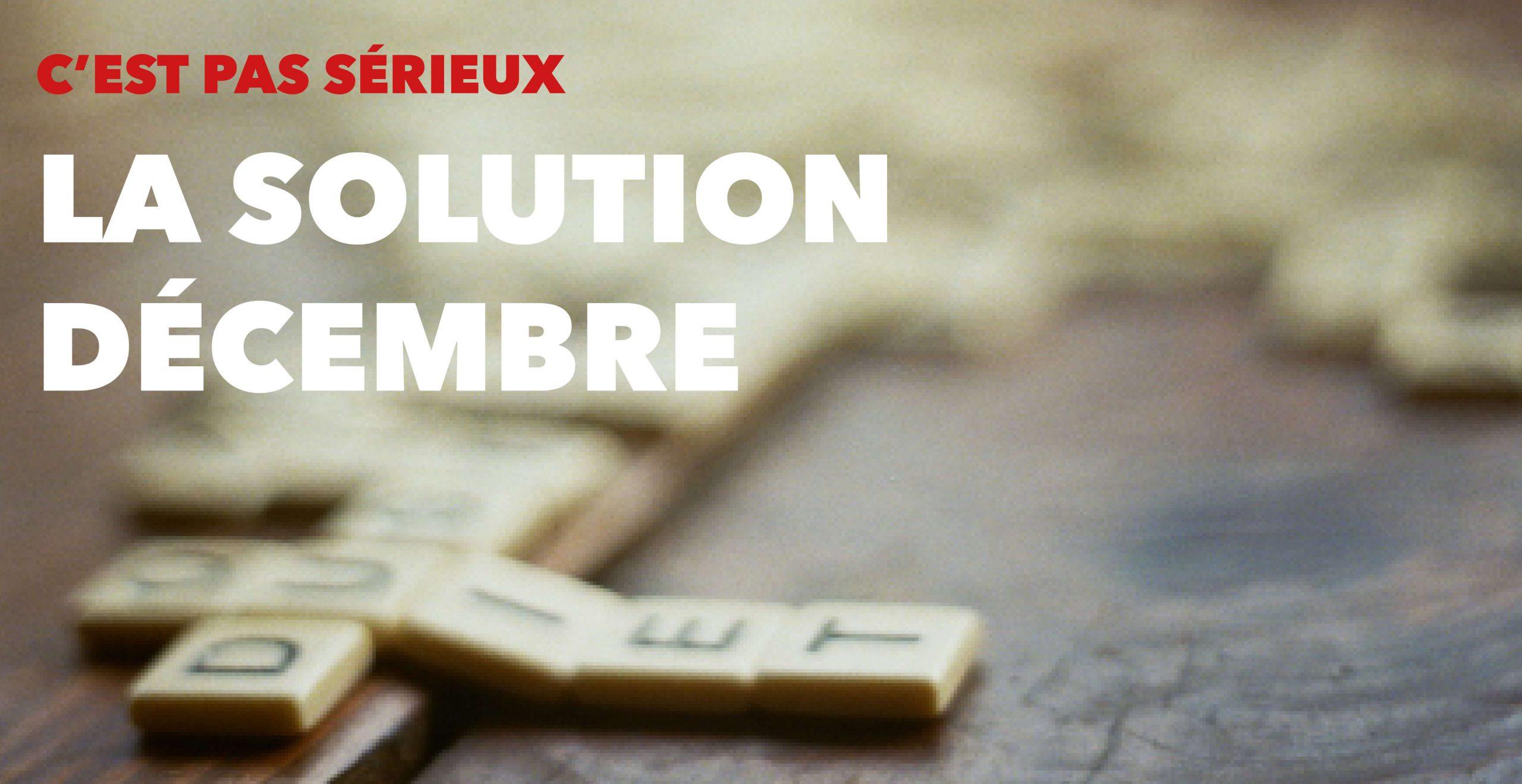 Read more about the article La solution du Sudoku de décembre